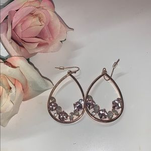 Rose gold dangly earrings